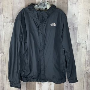 Men's North Face black zip up windbreaker jacket L